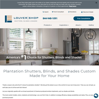 Shutters, Blinds & Shades - Window Treatments