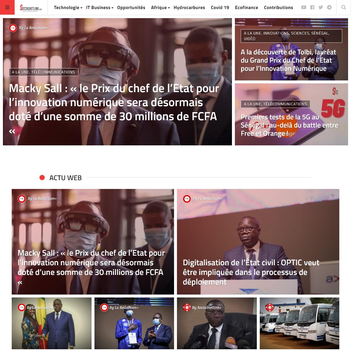 Socialnetlink, le lien vers l`actu IT africaine et des startups -