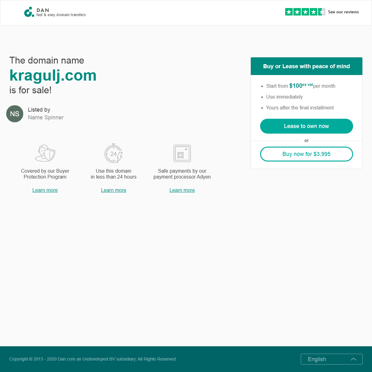 The domain name kragulj.com is for sale