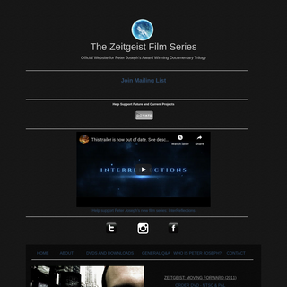 The Zeitgeist Film Series Gateway - Zeitgeist- The Movie, Zeitgeist- Addendum, Zeitgeist- Moving Forward