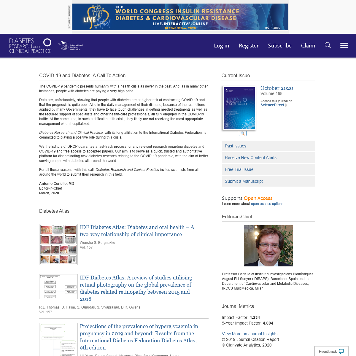Home Page- Diabetes Research and Clinical Practice