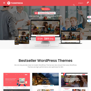 Premium WordPress Themes, Plugins, SEO Friendly - ThimPress