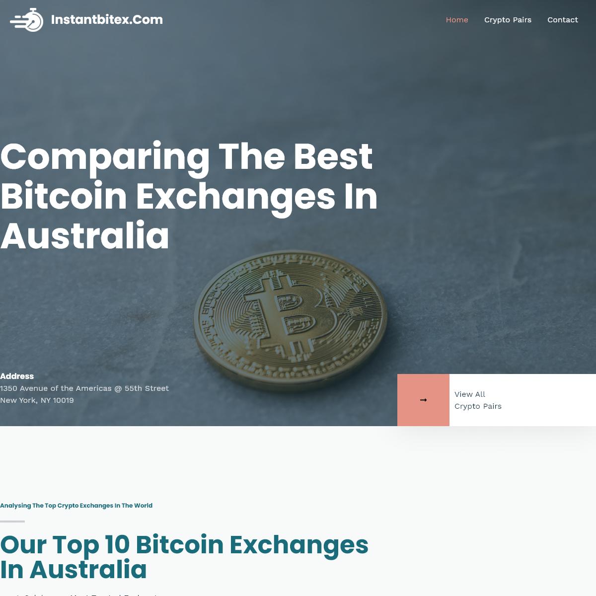 instantbitex.com - Find The Best Cryptocurrency Exchanges in Australia