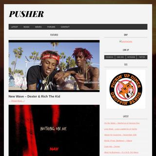 PUSHER – Pushing artists that push boundaries.