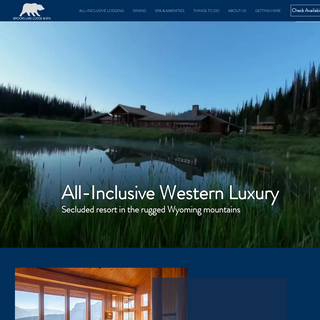 All-Inclusive Resort - Yellowstone, Jackson Hole - BROOKS LAKE LODGE AND SPA