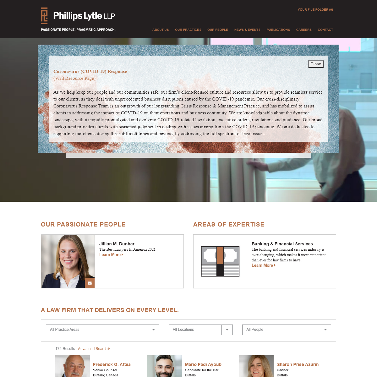Full Service Law Firm in US & Canada - Phillips Lytle LLP