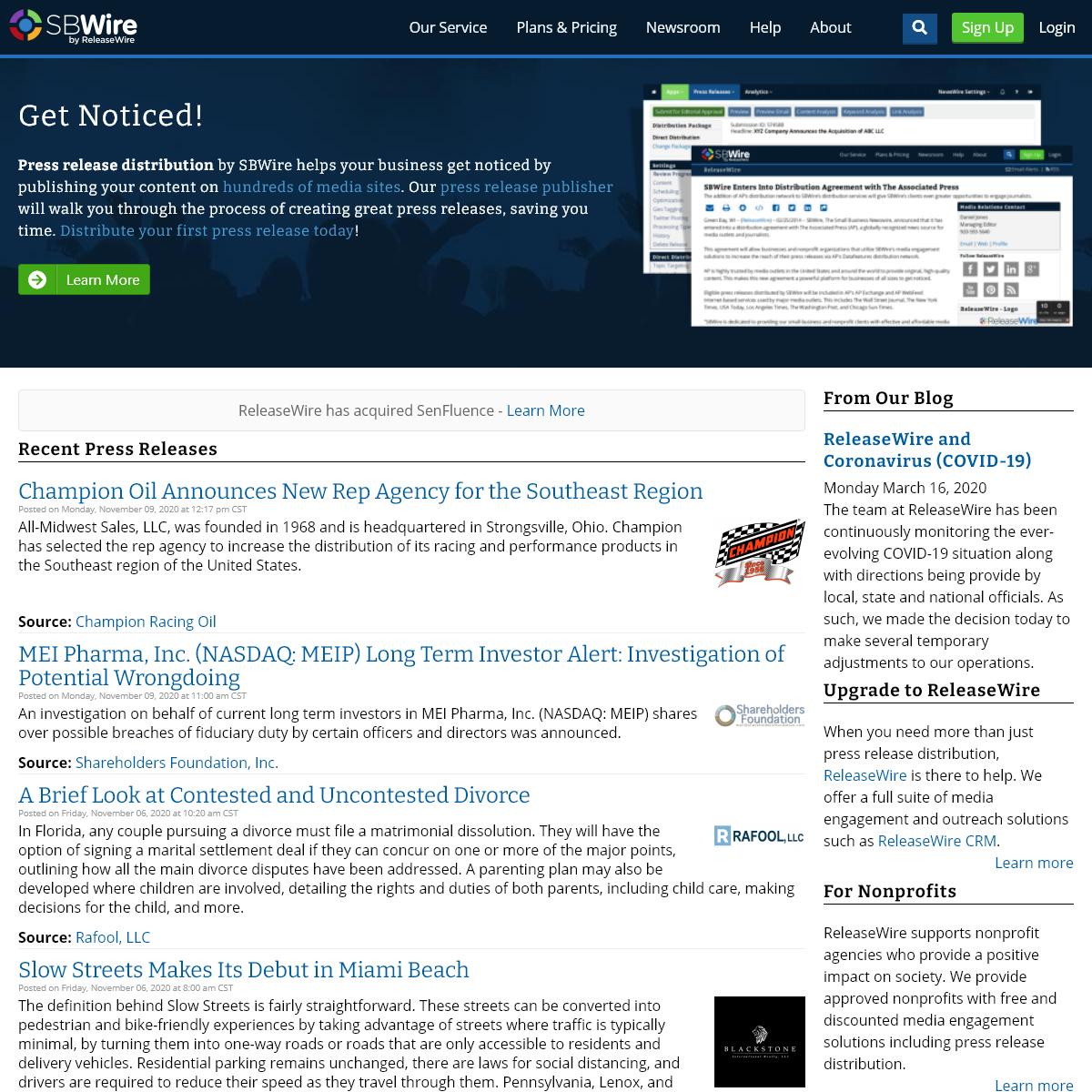 SBWire - The Small Business Newswire