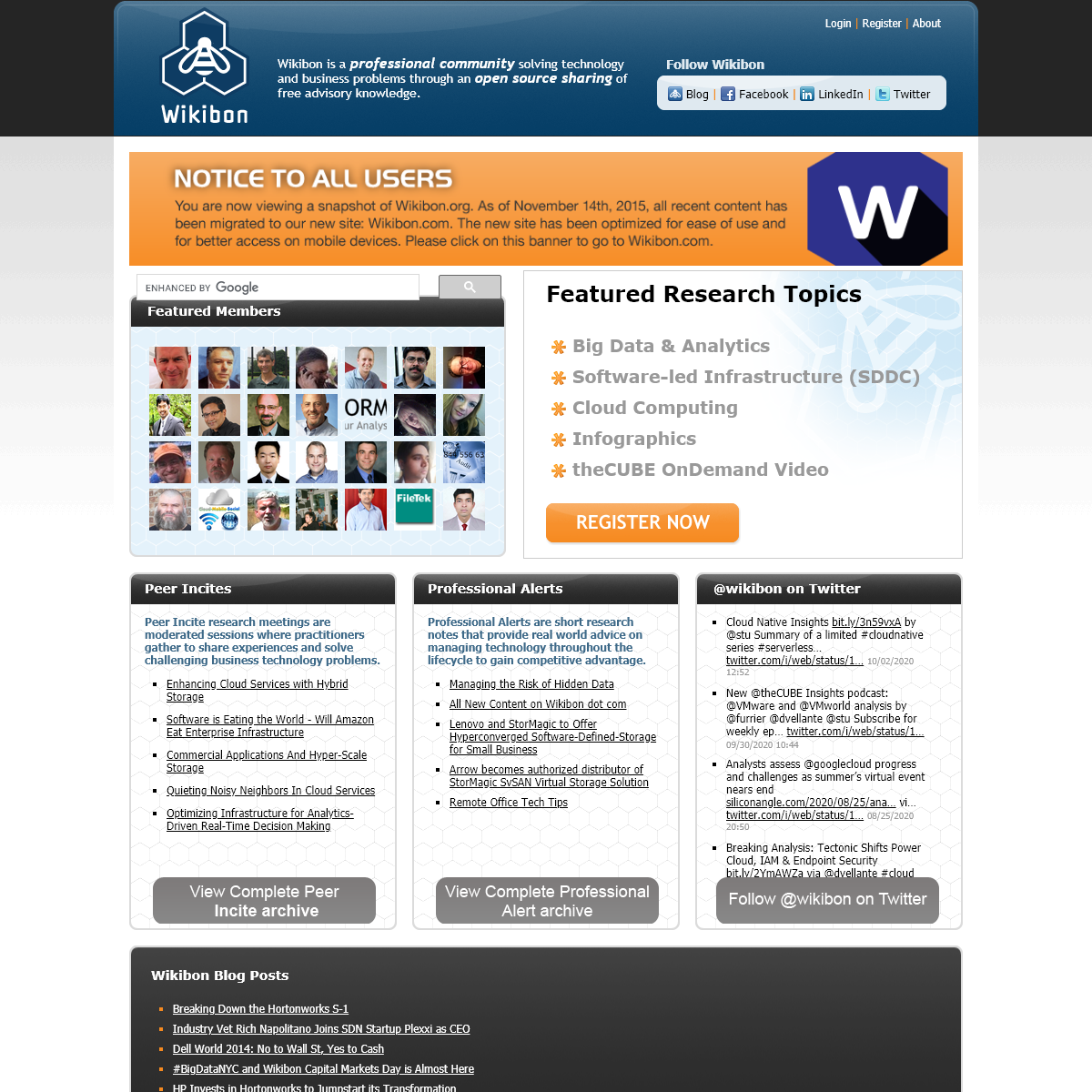 A Wiki for Sharing Technology & Business Knowledge - Wikibon