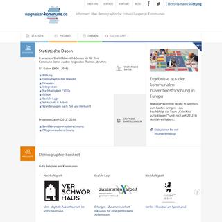 Kommunale Daten- Demographischer Wandel. Bevölkerungsprognosen - Wegweiser Kommune