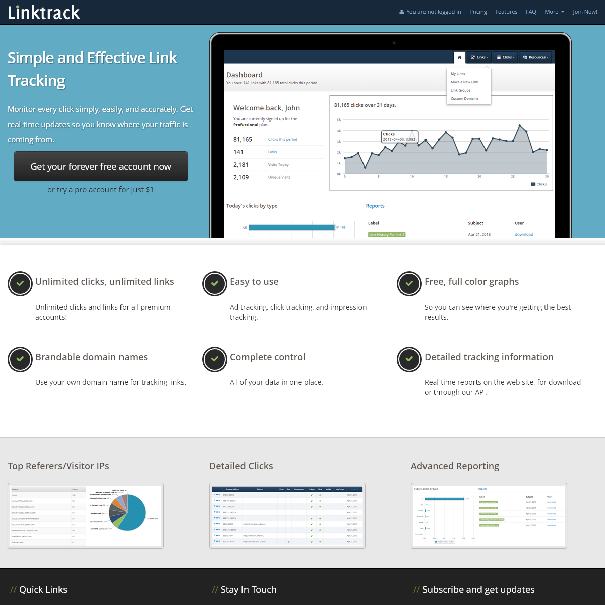Linktrack.info - The Best Link Tracker and Ad Tracker Ever