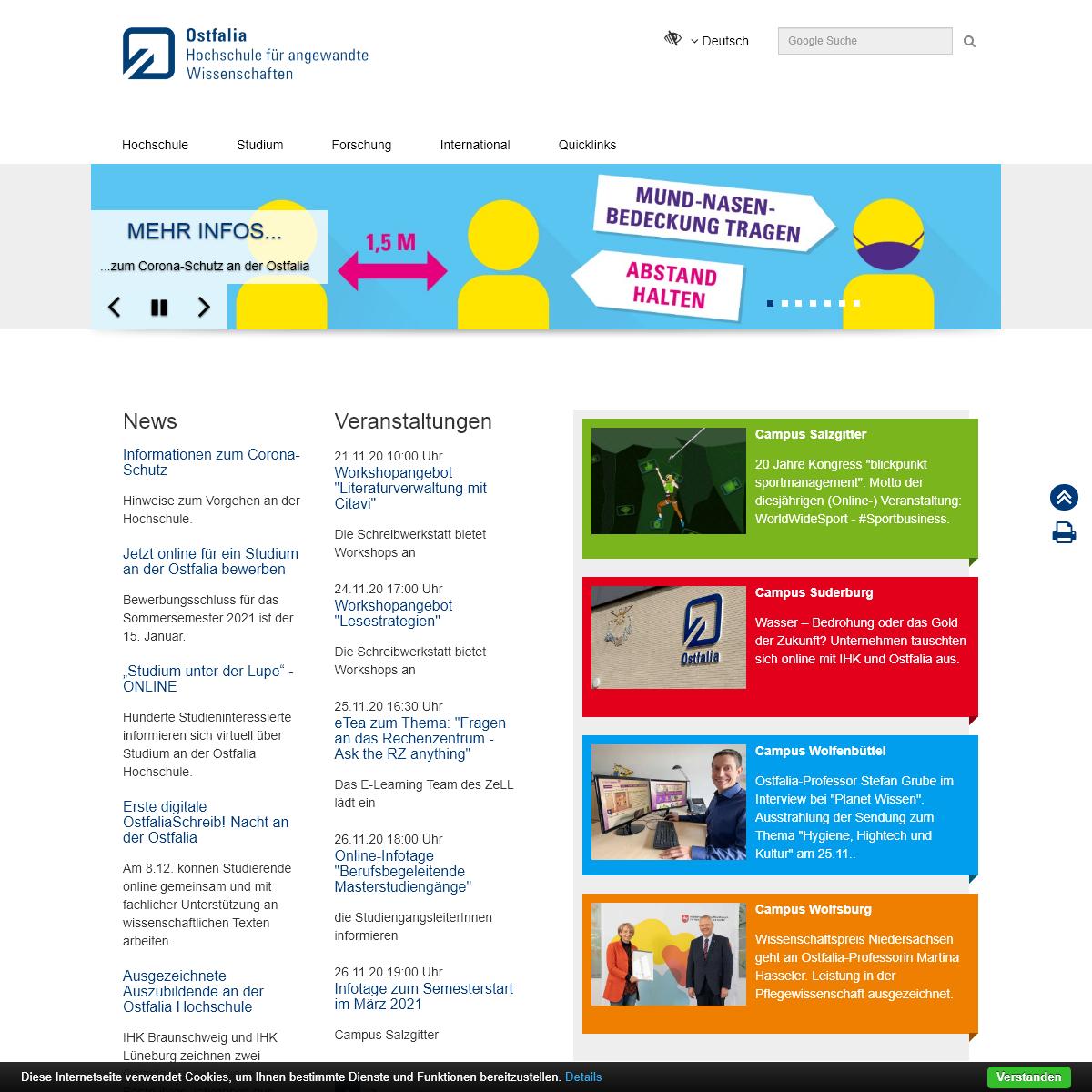 Ostfalia - Startseite Deutsch