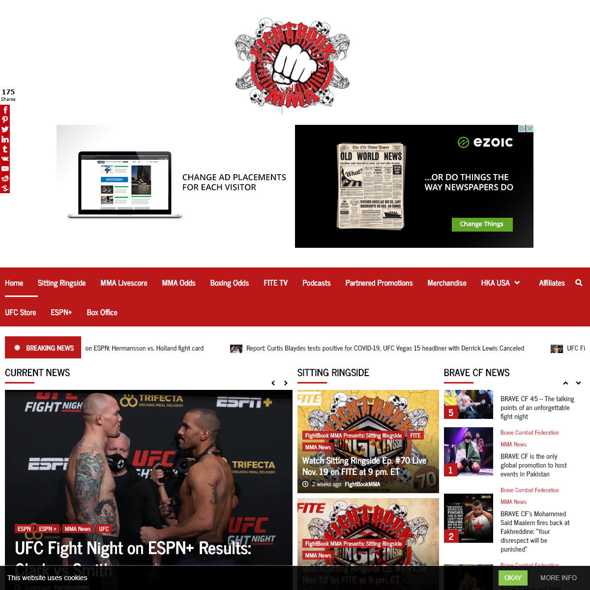FightBook MMA - UFC and Combat Sports News