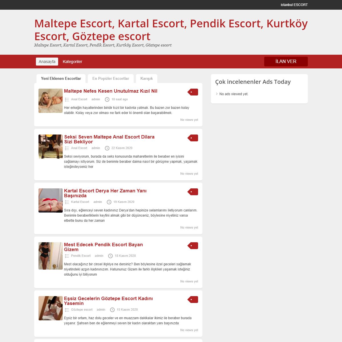 Maltepe Escort, Kartal Escort, Pendik Escort, Kurtköy Escort, Göztepe escort