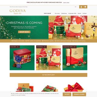 GODIVA Chocolates - Belgian chocolates delivered in Europe.