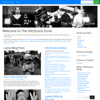 Welcome to The Hitchcock Zone! - The Hitchcock Zone