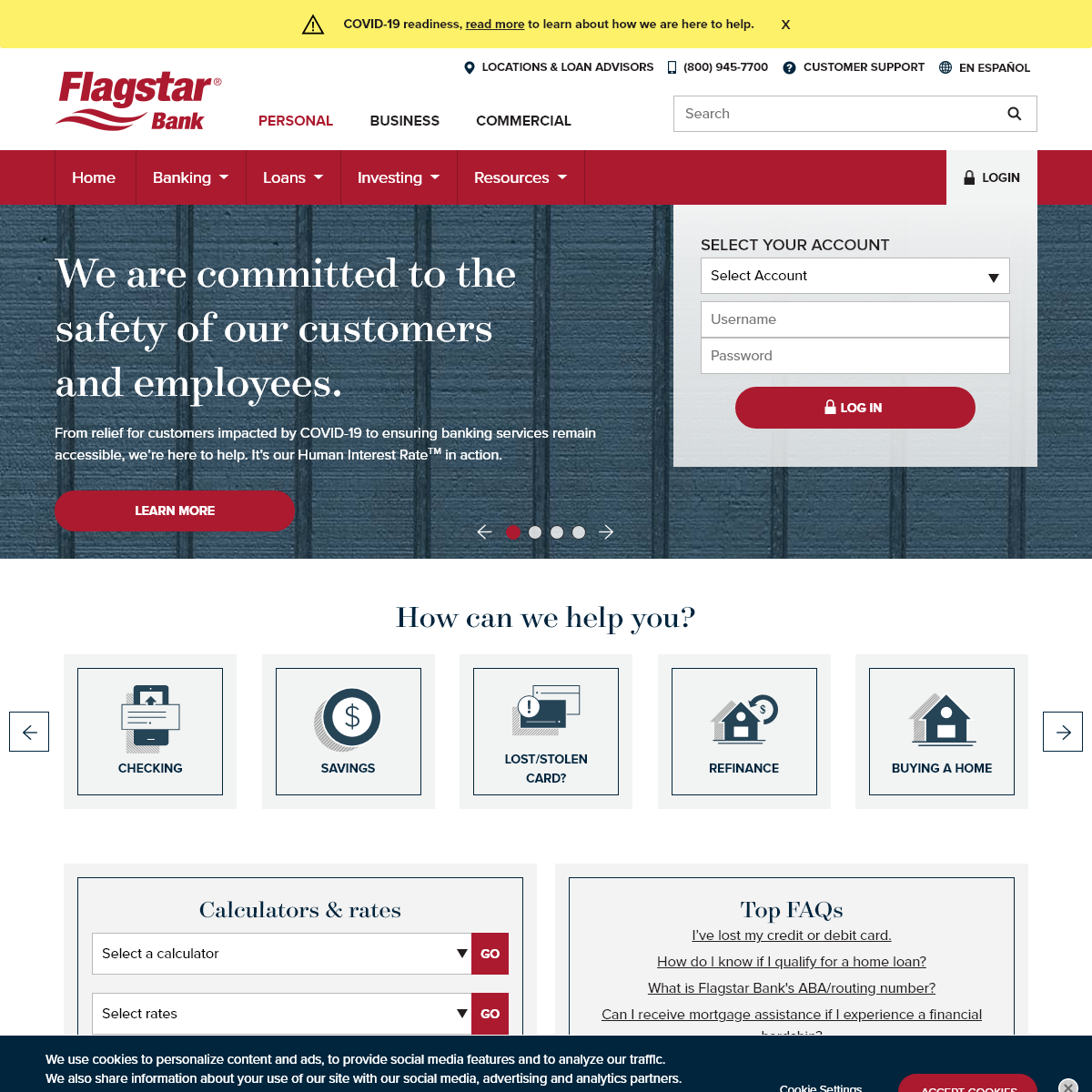 Banking Services- Personal, Business, & Commercial - Flagstar Bank