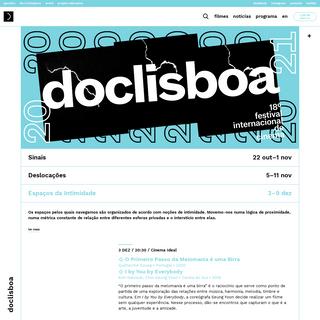 Doclisboa 2020 - 18º Festival Internacional de Cinema
