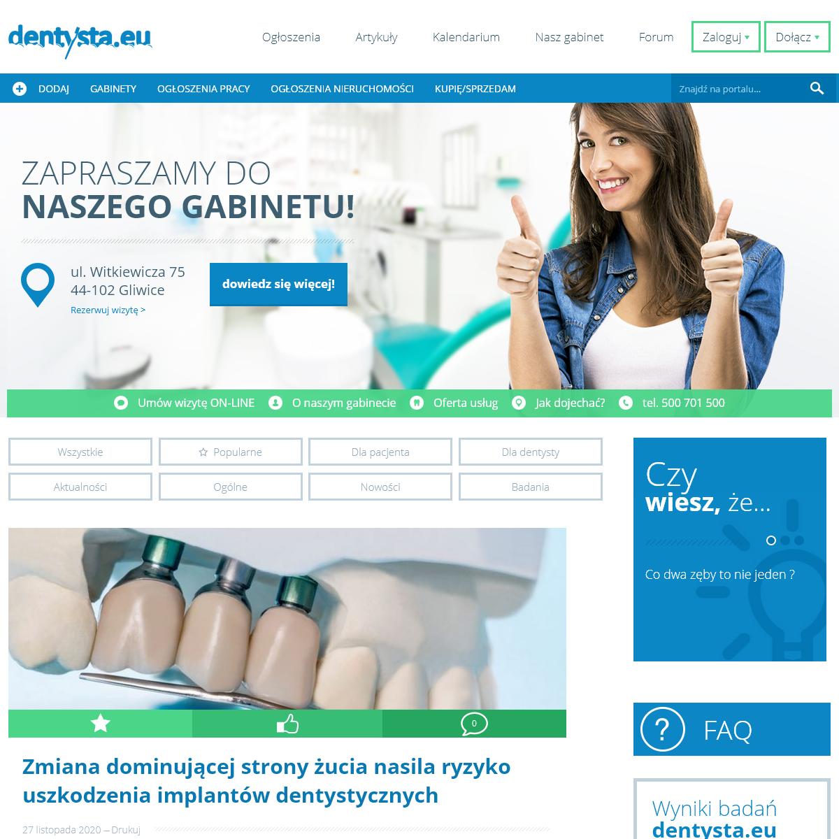 Dobry stomatolog, gabinet dentystyczny Gliwice - dentysta Marcin Krufczyk - Dentysta.eu