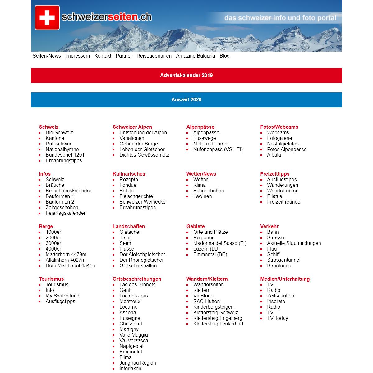 SchweizerSeiten - Das Schweizer Info- und Fotoportal