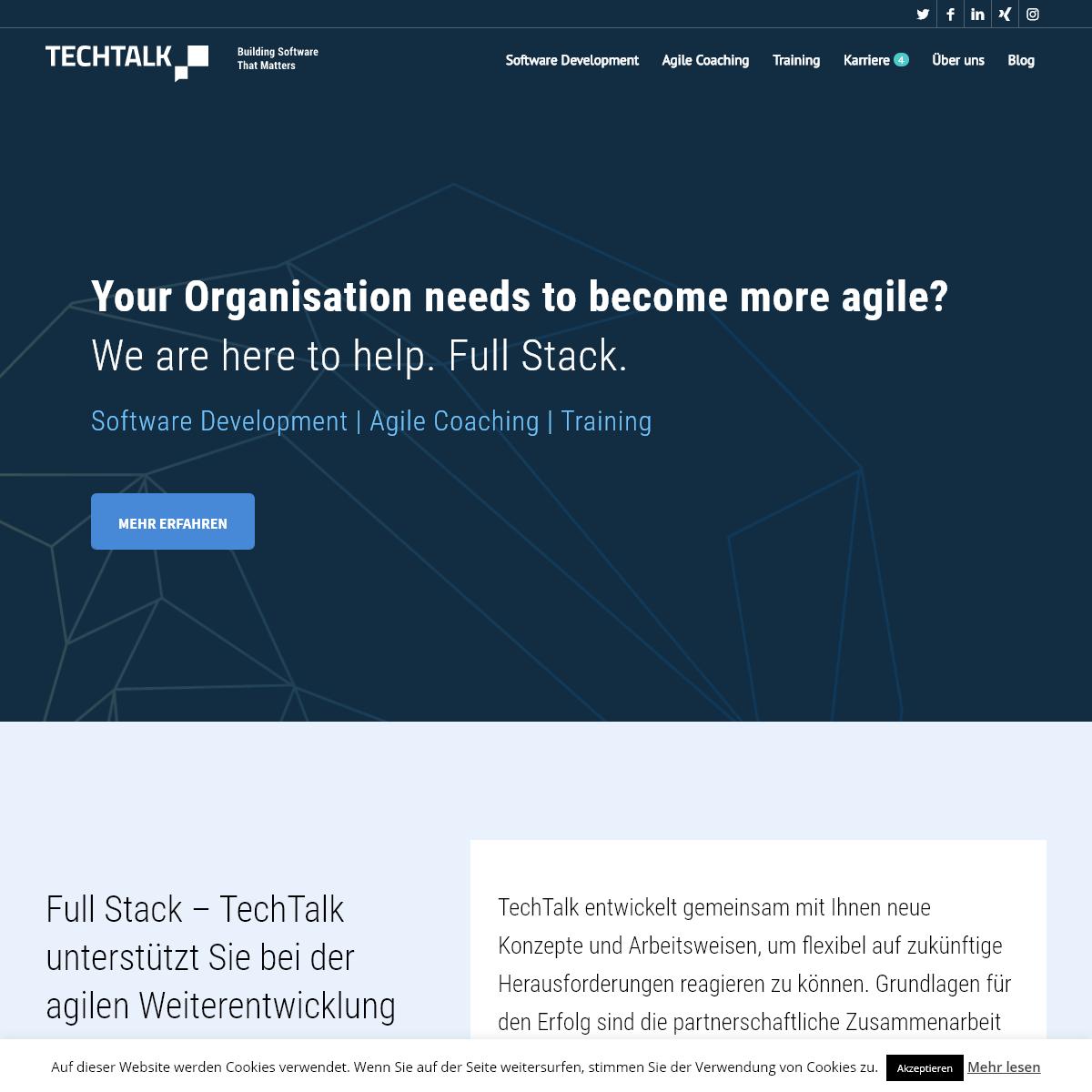 TechTalk - Software Development - Agile Coaching - Training