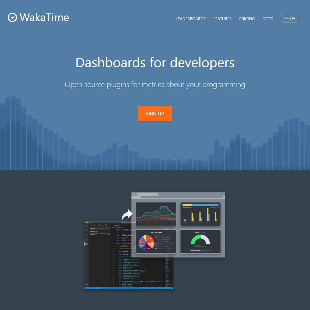 WakaTime · Developer dashboard