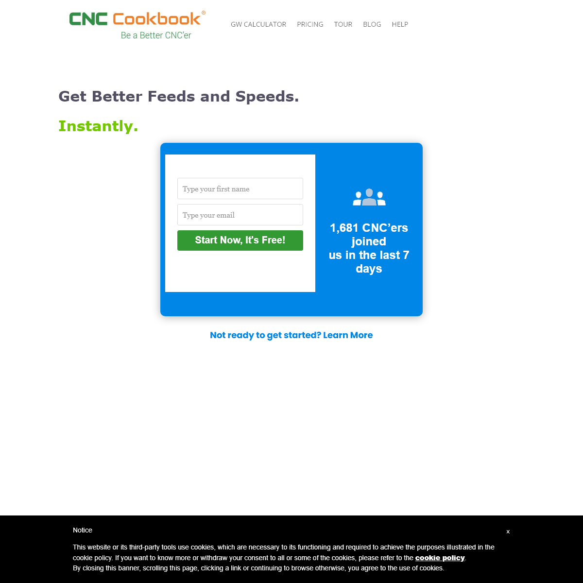 G-Wizard Calculator Free Trial Signup 2020 - CNCCookbook- Be A Better CNC`er
