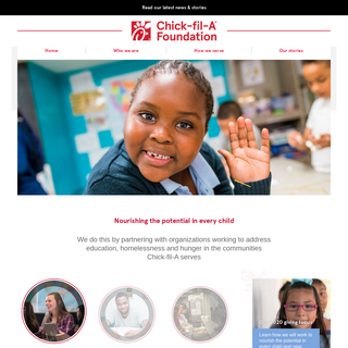 Nourishing the potential in every child - Chick-fil-A Foundation