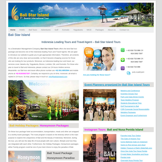 Bali Star IslandTours Bali Tour Packages leading Indonesian Travel Agent
