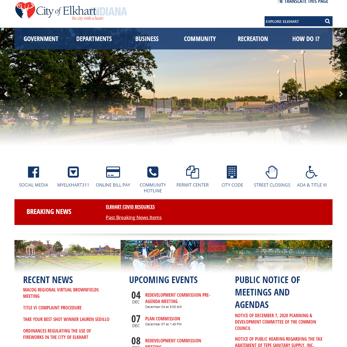 Home Page - Elkhart, IN