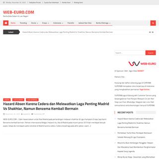 Web-Euro.com - Update Berita Bola Euro, & Jadwal Bola