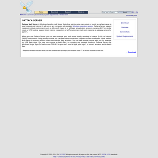 Gattaca Mail Server - - POP3, SMTP Mail Server -