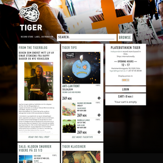 Tiger- Record store, Label, Distribution