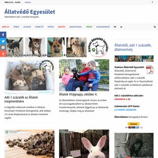 Állatvédelem adó 1 százalék támogatás · Állatvédő Egyesület