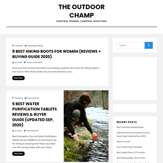 The Outdoor Champ – Hunting, Fishing, Camping, Shooting