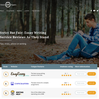 Best Essay Writing Service Reviews 2020 - Top 10 From College Experts