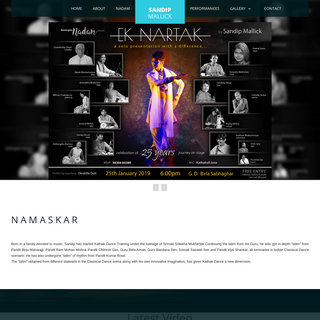 Sandip Mallick - Kathak Dancer