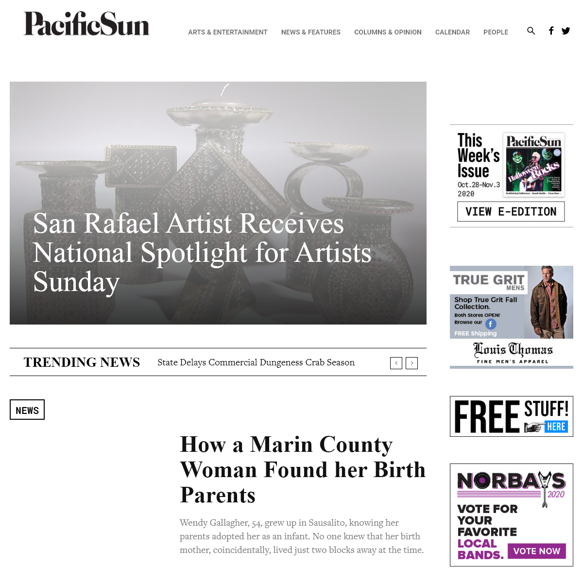Pacific Sun - Marin County`s Source for Arts, Culture, and News