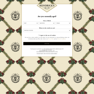 Hendrick`s Gin - Premium Scottish Gin Infused with Cucumber & Rose