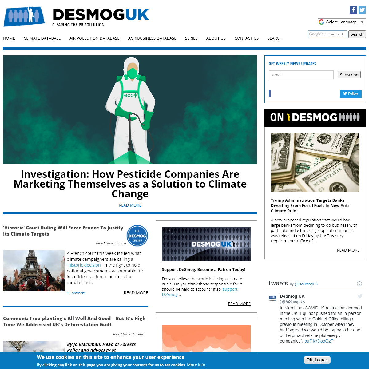 DeSmog UK - Clearing the PR Pollution