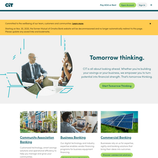CIT - Personal Banking - Business & Commercial Financing
