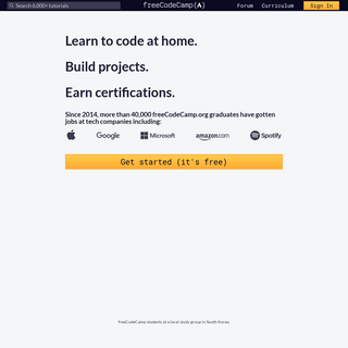 Learn to code at home - freeCodeCamp.org