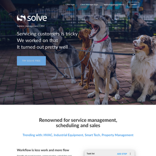 Service Management CRM on Web, iPhone iPad and Android