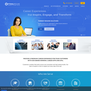 OptimalResume Career & Talent Suite - Career Experiences That Inspire, Engage, and Transform