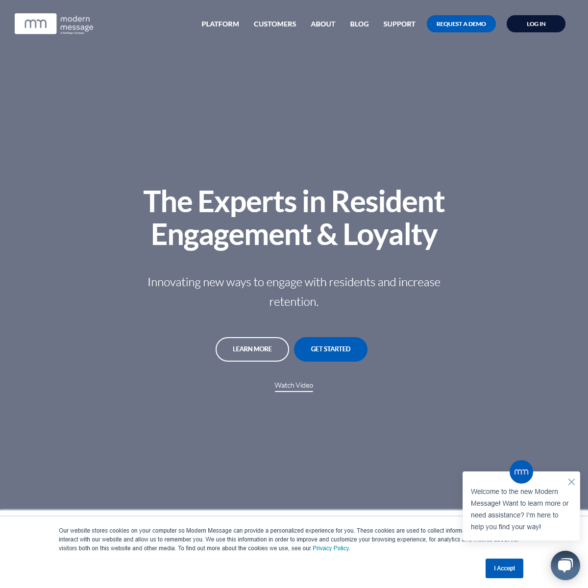 The Experts in Resident Engagement & Loyalty - Modern Message