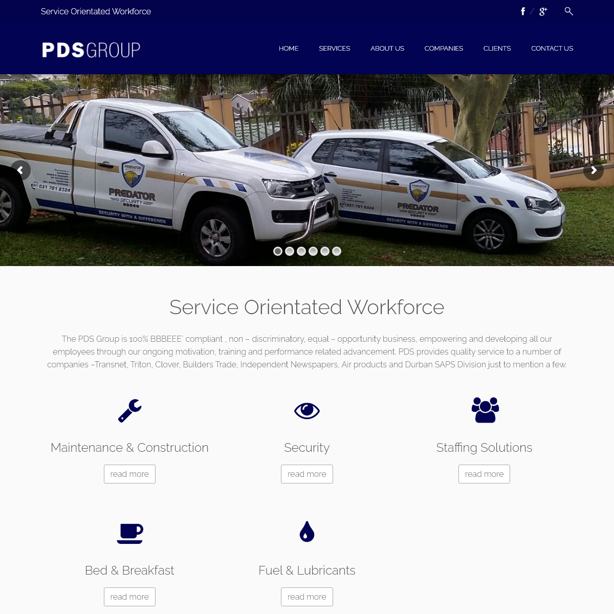 PDS Group - Staffing Solutions, Professional Distribution Services, PDS Training Centre and Riverside Palms Bed & Breakfast