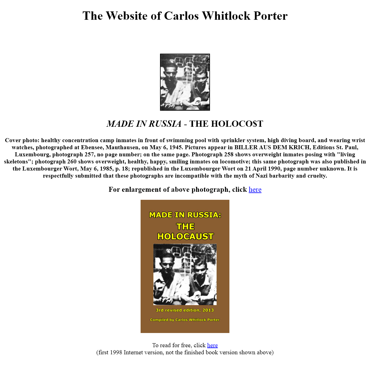 The website of Carlos Whitlock Porter