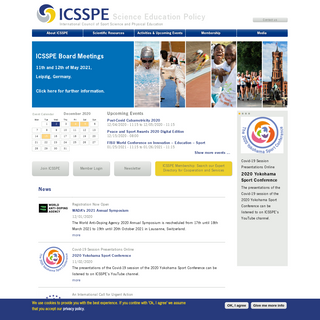 International Council of Sport Science and Physical Education - Science Education Policy
