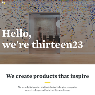 thirteen23 - Experience design and technology