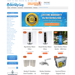 Berkey Drinking Water Purification Systems & More - 1-877-886-3653