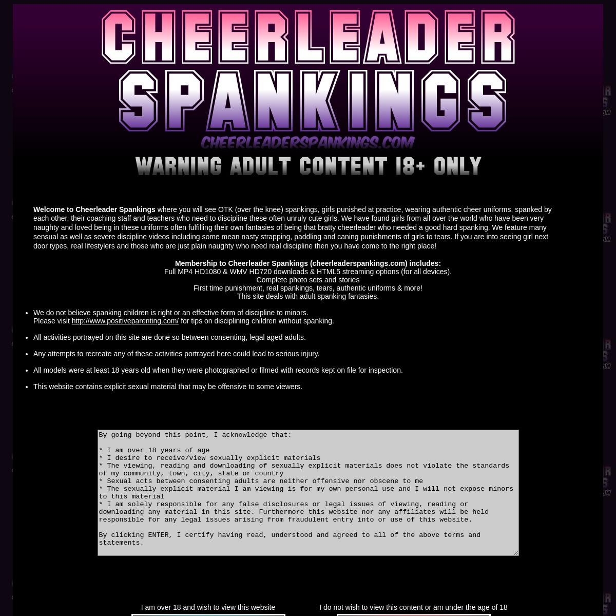 A complete backup of www.cheerleaderspankings.com